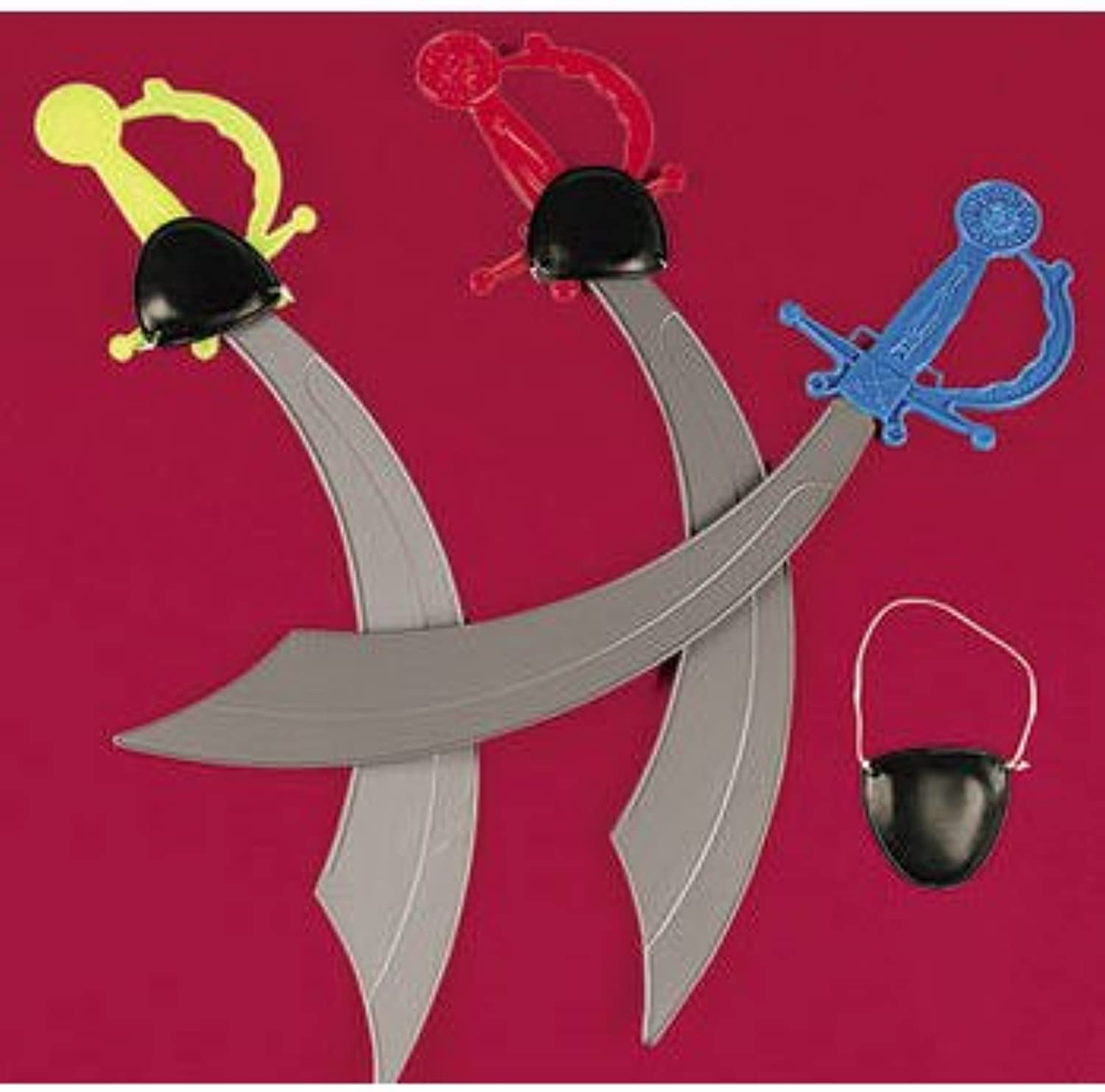 PIRATE SWORD WITH EYE PATCH (1 DOZEN) - BULK by Fun Express