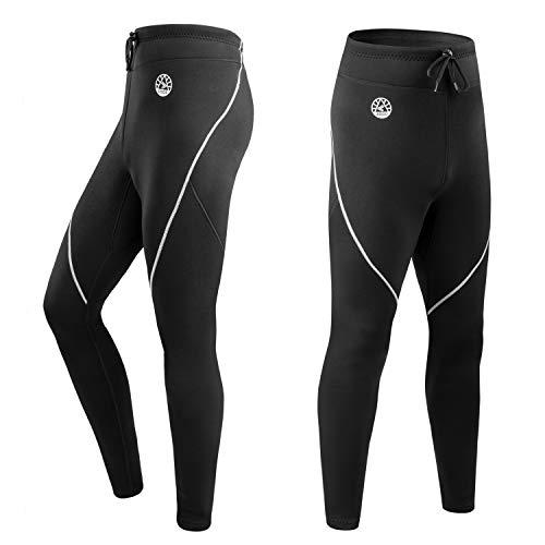 ZCCO Våtdräkt byxor för män, 1,5 mm neopren långa byxor för surfing kajakpaddling simning dykning kanot (grå, 2XL)