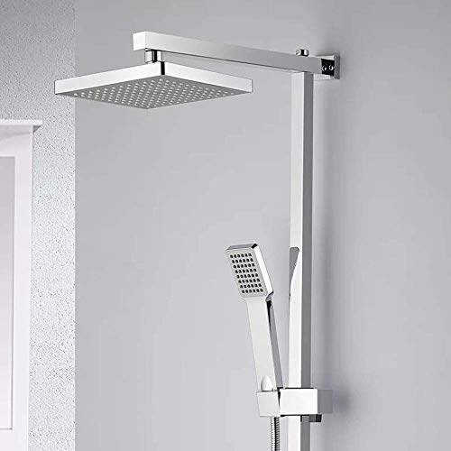 Yongenee Norte Europa LED Ducha Cobre 8 pulgadas Top ducha hogar baño Accesorios ducha ducha hermoso práctico