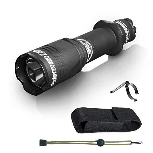 Linterna táctica Armytek Dobermann Pro XHP35 HI blanco cálido LED Linterna de largo alcance 381 metros Autodefensa