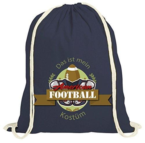 ShirtStreet American Football Kostüm für NFL Superbowl Fans, Größe: onesize,dunkelblau natur