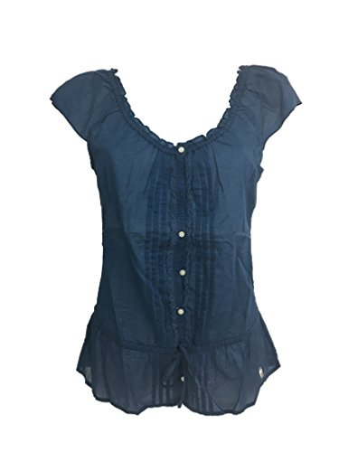 Abercrombie & Fitch Camisa de encaje para mujer. turquesa XS