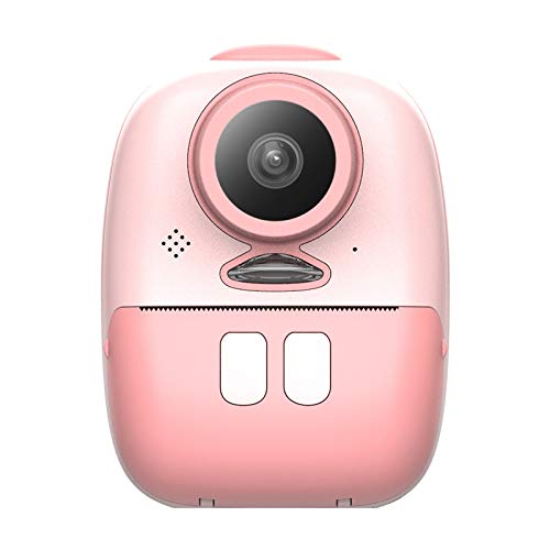 Nrpfell 2600W Kinder Sofortbildkamera Doppelobjektiv mit 2 Zoll LED-Bildschirm FüLllicht Video Kinder Outdoor Geschenk DIY Aufkleber Foto