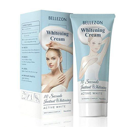 Mintiml 10 Seconds Instant Bellezon Whitening Cream Underarm Armpit Whitening Cream Legs Knees Body Effective Whitening Cream Legs (2PCS)