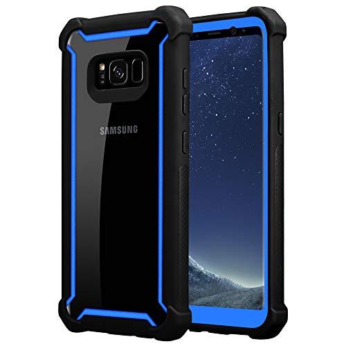 Cadorabo Funda para Samsung Galaxy S8 Plus en Negro Azulado -2-en-1 Cubierta con Borde Silicona TPU y Espalda Acrílico - Case Cover Carcasa Protectora Ligera