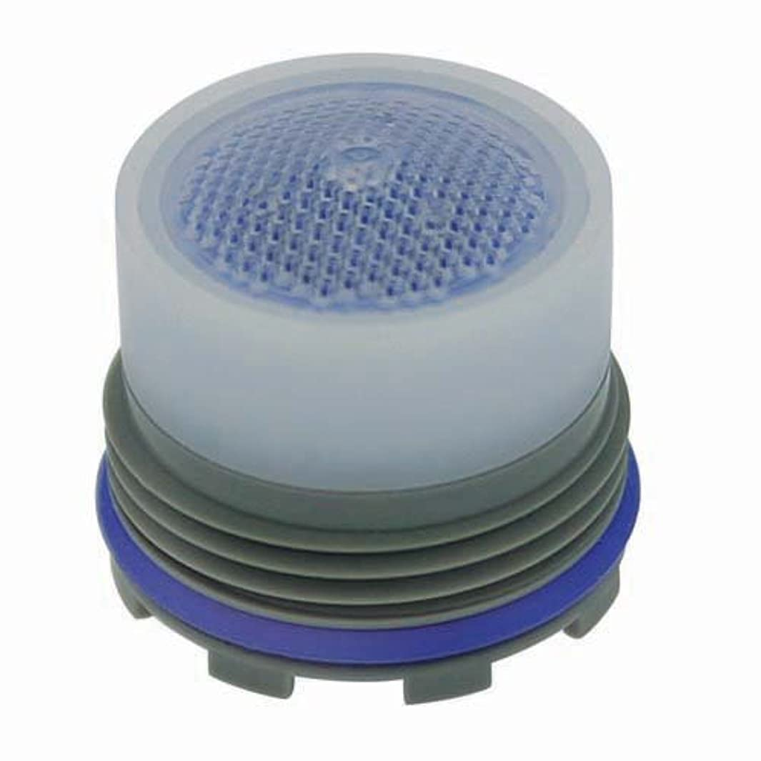 Neoperl 13 0340 2 Low Flow PCA Cache Perlator HC Aerator, Tom Thumb Size, 1 GPM, Blue/Clear Dome, Honeycomb Screen, Laminar Stream, M16.5 x 1 Threads, Plastic, 0.591