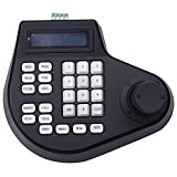 DealMux 3D Coaxial CCTV Controlador de teclado LCD 1.5 Joystick Rs485 Ptz Speed Dome Soporte de cámara para protocolo de anuncios de Pelco (enchufe de la UE)