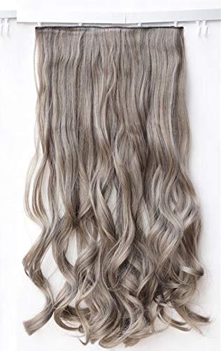GWSJF 60cm vert lin bois gris long cheveux raides/grande vague long cheveux bouclés morceau de cheveux morceau de cheveux-2 Fête Costumée Vêtements de Déguisement Costumes
