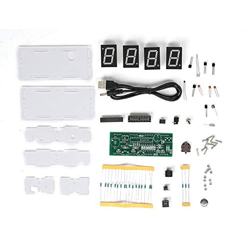DIY Elektronische Clock Kit 5V C51 SCM Proces Lichtregeling Grote LED-scherm Componenten Digitale Clock Kit DIY DIY Component Parts for Practice Learning Electronics