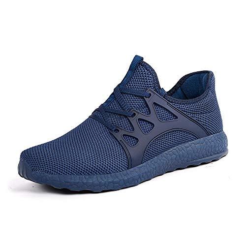 ZOCAVIA Herren Damen Sneaker Running Laufschuhe Sportschuhe rutschfeste Sneaker, Blau1, 40 EU