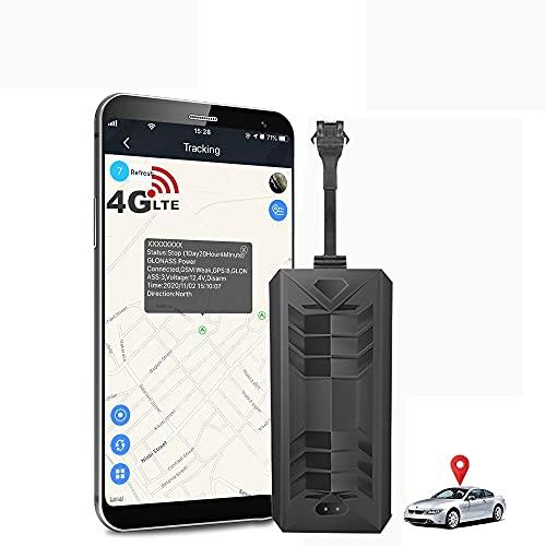 4G Let Localizador GPS para Coche ,Rastreador GPS con Batería Incorporada para Sistemas de Seguridad y Alarma Antirrobo para Motocicleta