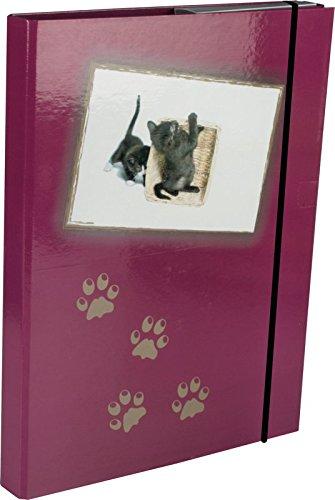 Heftbox / DIN A5 / aus Pappe / mit Katzenmotiv