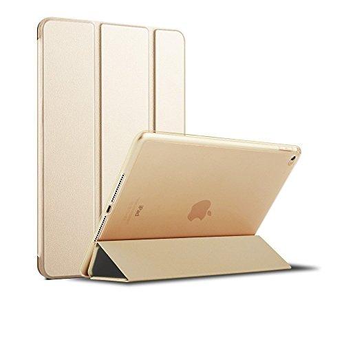MS factory iPad Air2 カバー ケース アイパッド エア2 Air 2 スマートカバー 耐衝撃 ソフト フレーム オートスリープ シャンパン ゴールド 金 IPDA2-S-TPU-GD
