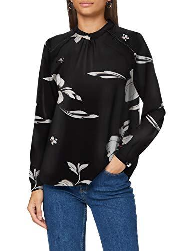 ONLY Damen Onlnew Mallory L/S Blouse Aop Wvn Noos Bluse, Black/Aop:florence Flower,...