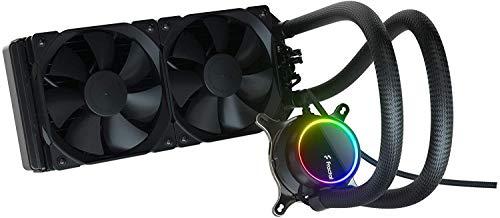 Fractal Design Celsius+ S24 Dynamic X2 PWM Black 240mm ARGB Pumpe, Silent Performance Slim Radiator AIO CPU Wasserkühlung, Liquid/Water Cooler