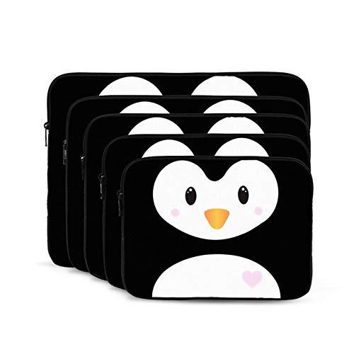 QUEMIN Bolsa antiestática de Hombro para computadora portátil y Tableta para Estudiantes Unisex Trabajadores pingüino bebé-10 Pulgadas