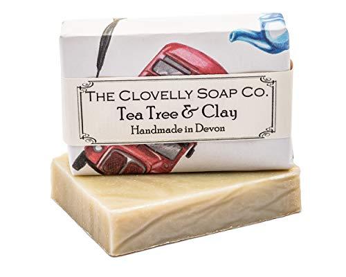 Clovelly Soap Co Natürliche handgemachte Seife Teebaum & Tonerde für alle Hauttypen 100g