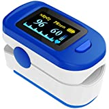 AccuSure FS20C Finger Tip Pulse Oximeter with CE0123 Certificate - Blue