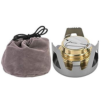 V GEBY Réchaud à Alcool Mini Portable Ultra-léger pour brûleur de Camping(Gris)