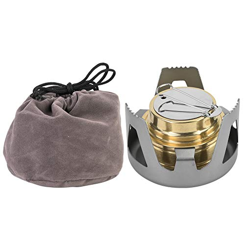 V GEBY Portable Ultra-Light Mini Cooking Burner Alcohol Fuel Stove for BBQ Camping(Grey)