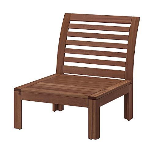 ÄPPLARÖ Sección de un solo asiento, al aire libre, tintado marrón, 63 x 80 x 73 cm, resistente y fácil de cuidar. Sofá de exterior.