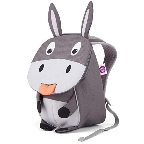 Affenzahn Kinder-Rucksack mit Brustgurt für Jungen und Mädchen im Kindergarten oder Kita der Kleine Freund, Enno Esel - Grau, 1-3 Jahre - Kleiner Freund