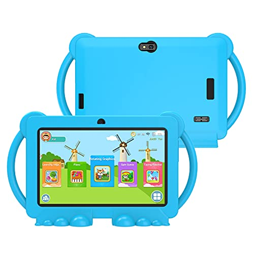 Xgody 7 Pollici Tablet Bambini android 8.1 OS, 1+16GB Bluetooth HD screen, Kid-Proof case per bambini (blue)