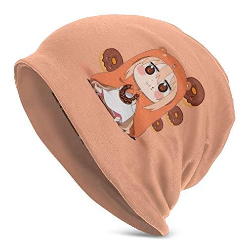 Hdadwy Himouto! Umaru Chan Adult Herren Strickmütze Beanie Cap Casual Beanie Hat Skull Cap Multifunktionale leichte Hüte Outdoor Herbst und Winter Warm Soft Light Atmungsaktiv Unisex Schwarz