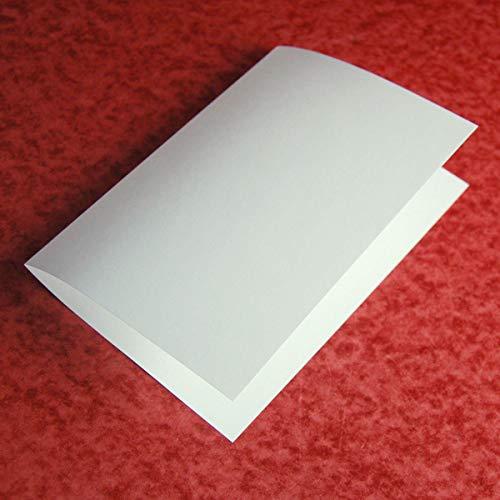 100 altweiße Einlegeblätter 16,3 x 22,4 cm, Munken Pure 90 g/qm (zum einmal Falten für Klappkarten 16,5 x 11,5 cm)
