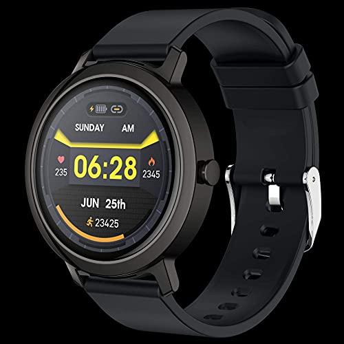 YEE Smart Watch Bluetooth Llamada Reloj Música Reproducir Música Smart Watch Ladies Menstrual Ciclo Monitor Monitor Fitness Ejercicio Rastreador, Smart Watch, (Color: Negro) (Color : Black)
