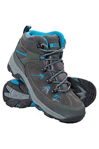 Mountain Warehouse Rapid Wasserfeste Stiefel für Damen - Wanderschuhe aus Wildleder und Netzstoff, Schuhe, Wanderstiefel mit Gummilaufsohle - Für Reisen, Camping Blaugrün 39 EU