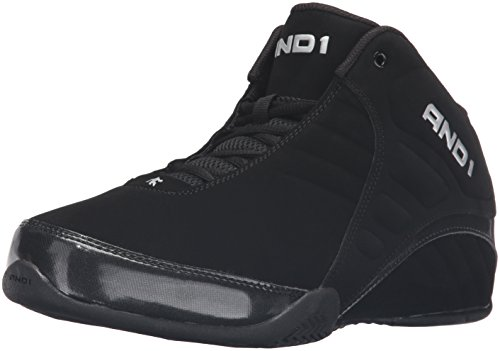 AND 1 Men's Rocket 3.0 mid-m Sneaker, Black/Black,...