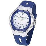 Relojes Analógicos para Niños, Niñas Impermeable Fácil de Leer Relojes de Pulsera con Correa Suave para Niñas (Azul Marino)