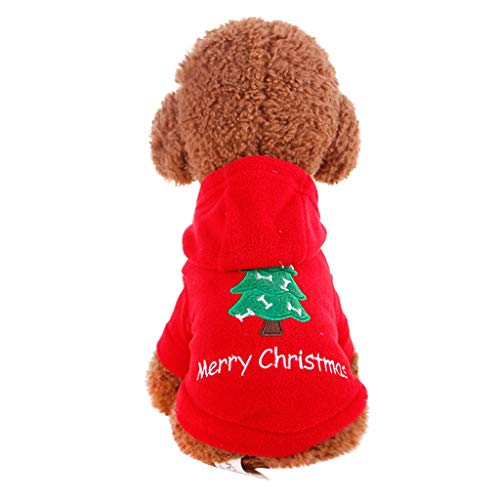 Fantastic Deal! Dog's Christmas Costume | Pet Warm Winter Hoodies Sweatshirt Xmas Festival Pet Cospl...