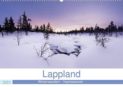 Lappland - Winterwandern Impressionen (Wandkalender 2021 DIN A2 quer): Lappland - Urlaub in Finnlands schönstem Winterparadies (Monatskalender, 14 Seiten )
