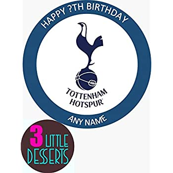 Tottenham Hotspur Football Cake Topper 7 5 Inches Includes 10 X 1 5 Inch Football Toppers Amazon Co Uk Toys Games