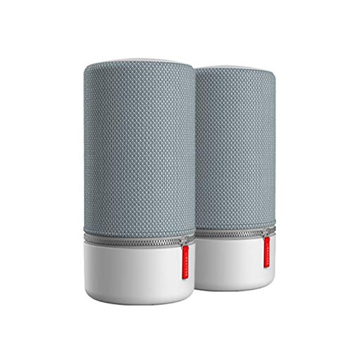Libratone ZIPP 2 MultiRoom Bundle 2 Stk., Smart Wireless großes Lautsprecher (Alexa Integration, AirPlay 2, 360 Sound, WLAN, Bluetooth, Spotify Connect, 12 Std. Akku) Frosty Grey