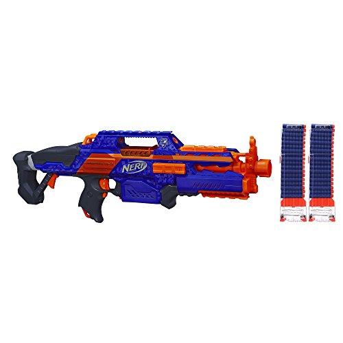 2x NERF N-Strike Elite Rapidstrike CS-18 Motorized Rapid Fire Blaster w// Stock