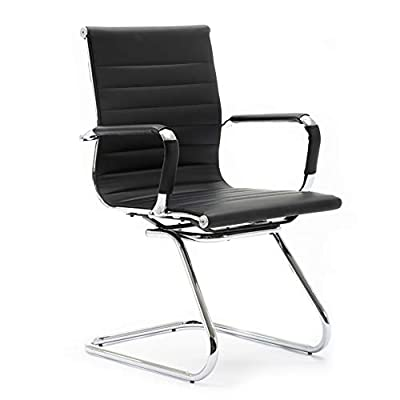 Wahson Guest Chairs for Office Reception Area and Home with Faux Leather, Sled Base