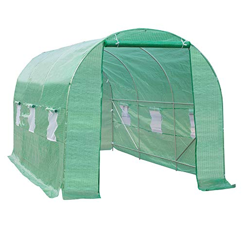 Outsunny 15x7x7ft Walk-in Tunnel Greenhouse Portable Garden Plant Growing...