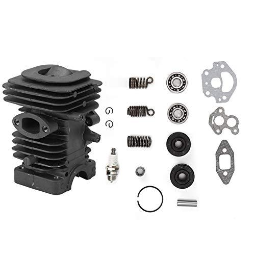 Fdit Cilindro Motor Pistón Junta de Cilindro Kit de Repuesto de Montaje de Extremo Superior para Motosierra Husqvarna 235236240 235e 236e 240e