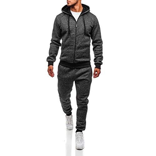 Zarupeng heren capuchonpullover + sportbroek patchwork capuchonjack hoodie sweatshirt bovenstuk joggingbroek sets sport pak trainingspak