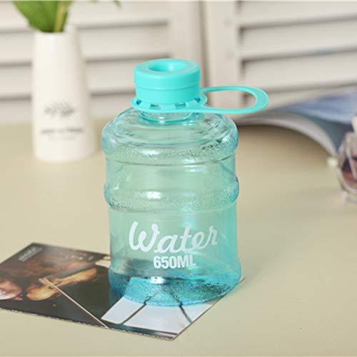 Hunpta Big Water Bottle - Botella de agua personalizada, portátil, ligera, libre de Bpa, ideal para gimnasio, escalada, montaña y camping (azul)