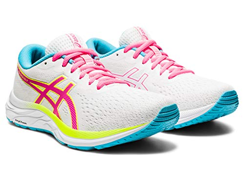 ASICS Women's Gel-Excite 7 Running Shoes, 8M, White/Safety Yellow