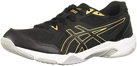 ASICS Men's Gel-Rocket 10 Indoor Court Shoes, 12, Black/Pure Gold