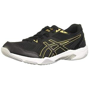 ASICS Men's Gel-Rocket 10 Indoor Court Shoes, 11.5, Black/Pure Gold