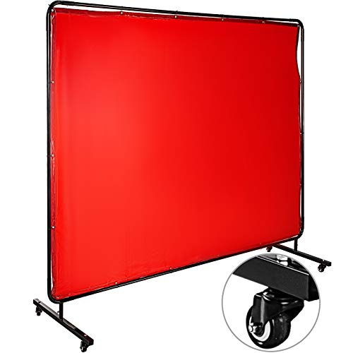 Yellow Steiner 431-6X9 Port-O-Screen Portable Welding Screen with 13-Ounce Flame Retardant Vinyl Laminated Polyester Curtain 6 x 9