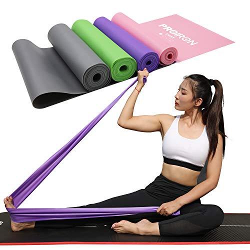 PROIRON Bandas Elásticas Banda de Resistencia 1.5m y 2m para rehabilitación y Terapia Física para Ejercicio Yoga Pilates sin Látex (Verde, 1.5M)