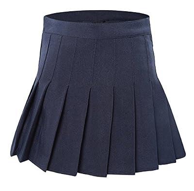 Tremour Women's High Waisted Pleated Mini Shorts Sport Skorts
