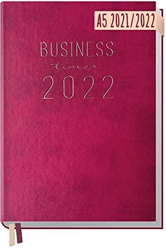 Chäff Business-Timer 2021/2022 A5 [Berry] Terminplaner, Wochenkalender 18 Monate: Jul 2021 - Dez 2022 | Terminkalender, Wochenplaner, Organizer | klimaneutral und nachhaltig